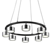 "Picture of 20"" LED Down Pendant with Black & Chrome finish"
