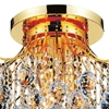 "Picture of 20"" Monarch Crystal Flush Mount Round Chandelier Chrome / Gold 6 Lights"