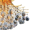 """Picture of 20"""" Monarch Crystal Flush Mount Round Chandelier Chrome / Gold 6 Lights"""