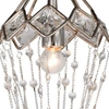 "Picture of 21"" 1 Light Down Mini Chandelier with Speckled Nickel finish"