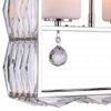 "Picture of 21"" 2 Light Down Chandelier with Bright Nickel finish"