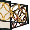 """Picture of 21"""" 2 Light Drum Shade Chandelier with Golden Line Bronze finish"""