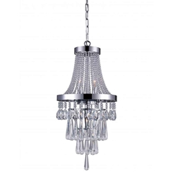 """21"""" 3 Light  Chandelier with Chrome finish"""
