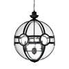"""Picture of 21"""" 3 Light  Pendant with Black finish"""