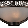 "Picture of 21"" 3 Light Bowl Flush Mount with Golden Bronze finish"