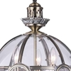 "Picture of 21"" 3 Light Mini Pendant with Antique Brass Finish"