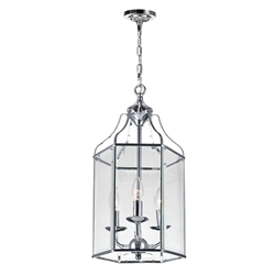 """21"""" 3 Light Up Chandelier with Chrome finish"""