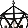 """Picture of 21"""" 3 Light Up Pendant with Black finish"""