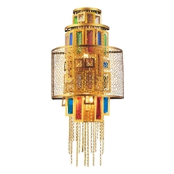 """21"""" 3 Light Wall Sconce with Gold finish"""