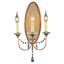 "21"" 3 Light Wall Sconce with Oxidized Bronze finish"