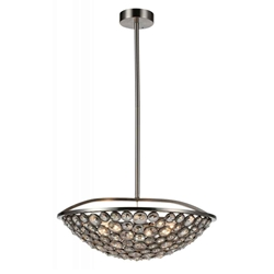"21"" 5 Light  Chandelier with Satin Nickel finish"