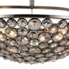 "Picture of 21"" 5 Light  Chandelier with Satin Nickel finish"