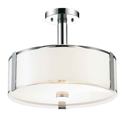 """21"""" 5 Light Drum Shade Chandelier with Chrome finish"""