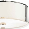 "Picture of 21"" 5 Light Drum Shade Chandelier with Chrome finish"