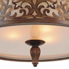 "Picture of 21"" 5 Light Drum Shade Flush Mount with Brushed Chocolate finish"