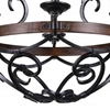 "Picture of 21"" 6 Light Candle Chandelier with Gun Metal finish"