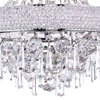 "Picture of 21"" 6 Light Down Chandelier with Chrome finish"