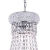 """Picture of 21"""" 6 Light Down Chandelier with Chrome finish"""