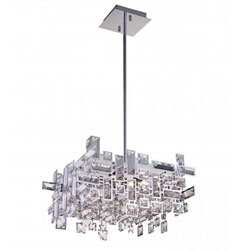 "21"" 8 Light  Chandelier with Chrome finish"