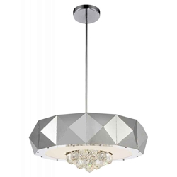 """21"""" 8 Light  Chandelier with Chrome finish"""
