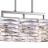 "Picture of 21"" 8 Light Down Chandelier with Bright Nickel finish"