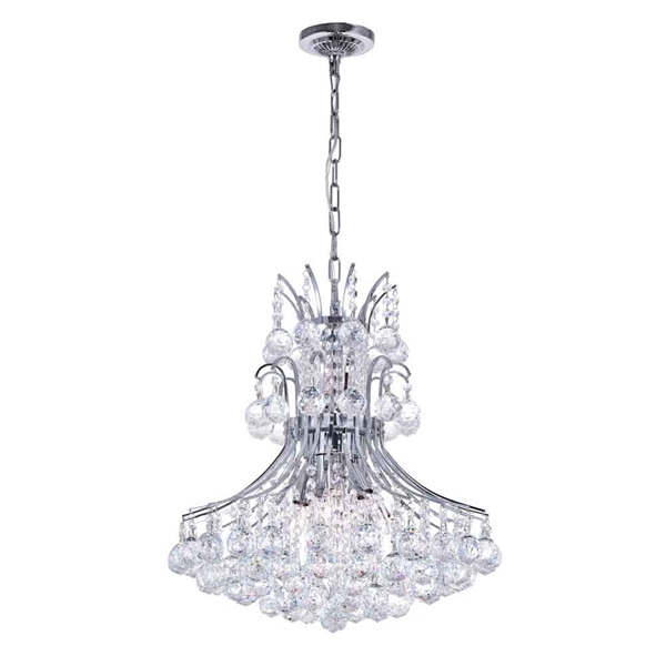 """Picture of 21"""" 8 Light Down Chandelier with Chrome finish"""