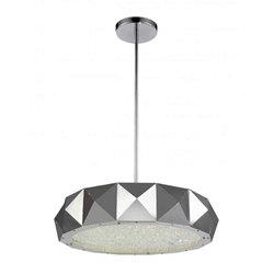 """21"""" 8 Light Drum Shade Chandelier with Chrome finish"""