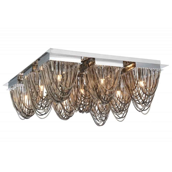 "Picture of 21"" 9 Light  Flush Mount with Chrome finish"