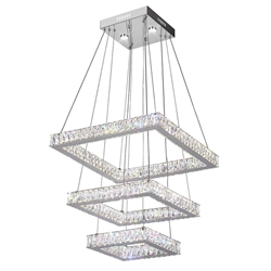"""21"""" LED  Chandelier with Chrome finish"""