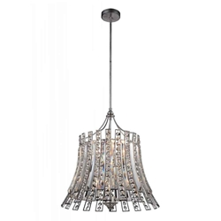 """21"""" Nile Modern Crystal Round Chandelier Antique Forged Silver 8 Lights"""