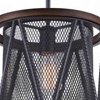 "Picture of 22"" 1 Light Drum Shade Mini Chandelier with Pewter finish"