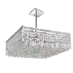"22"" 10 Light Down Chandelier with Chrome finish"