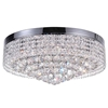 """Picture of 22"""" 10 Light Drum Shade Flush Mount with Chrome finish"""