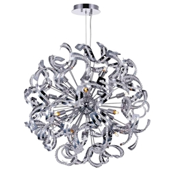 "22"" 14 Light  Chandelier with Chrome finish"