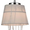 "Picture of 22"" 2 Light Drum Shade Chandelier with Chrome finish"
