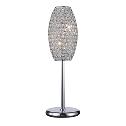 """22"""" 2 Light Table Lamp with Chrome finish"""