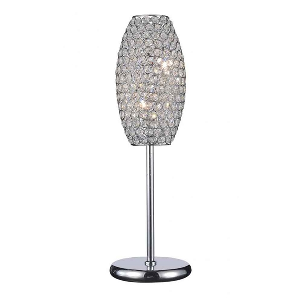 "Picture of 22"" 2 Light Table Lamp with Chrome finish"