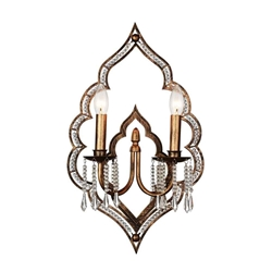 """22"""" 2 Light Wall Sconce with Champagne finish"""