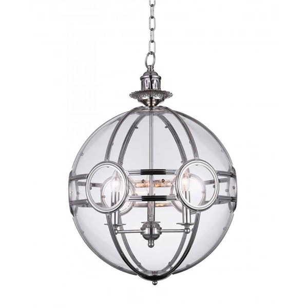 "Picture of 22"" 3 Light  Pendant with Chrome finish"