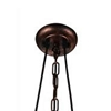 """Picture of 22"""" 3 Light Down Chandelier with Speckled copper finish"""