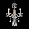 """Picture of 22"""" 3 Light Up Chandelier with Chrome finish"""