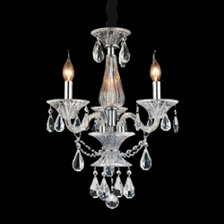 """22"""" 3 Light Up Chandelier with Chrome finish"""