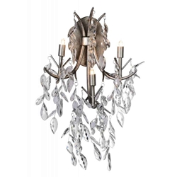 """22"""" 3 Light Wall Sconce with Silver Mist finish"""