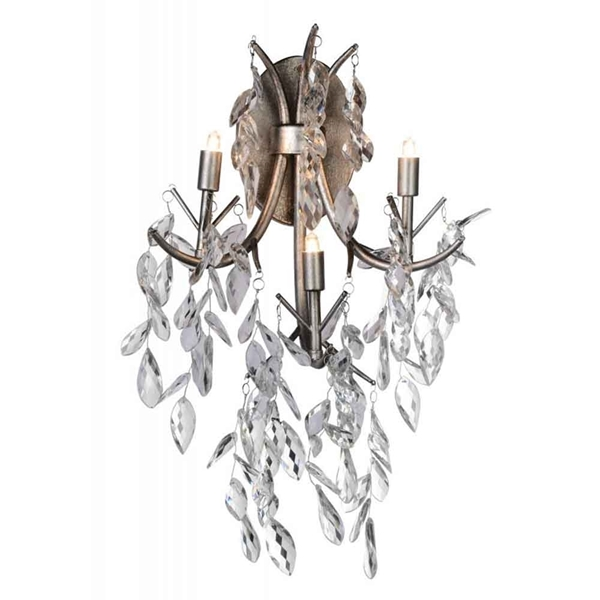 "Picture of 22"" 3 Light Wall Sconce with Silver Mist finish"
