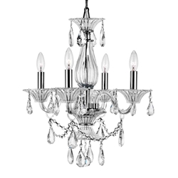 """22"""" 4 Light Up Chandelier with Chrome finish"""