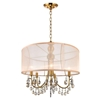 "Picture of 22"" 5 Light Drum Shade Chandelier with French Gold finish"