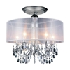 """Picture of 22"""" 5 Light Drum Shade Flush Mount with Chrome finish"""