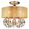 "Picture of 22"" 5 Light Drum Shade Flush Mount with French Gold finish"