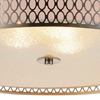 "Picture of 22"" 5 Light Drum Shade Flush Mount with Satin Nickel finish"