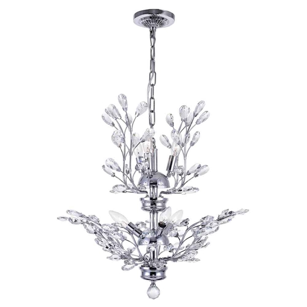 """Picture of 22"""" 6 Light  Chandelier with Chrome finish"""